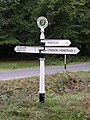 Directional signpost at Shave Wood, New Forest - geograph.org.uk - 54994.jpg