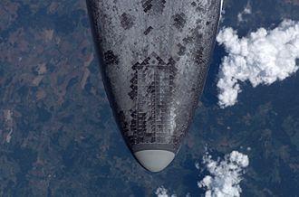 Heat shield - Thermal soak aerodynamic heat shield used on the Space Shuttle.
