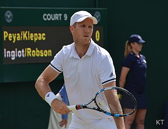 Dominic Inglot - Inglot at the 2016 Wimbledon Championships in London, England.