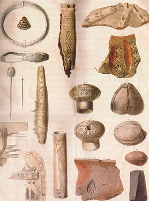History of urban centers in the Low Countries - Objects found excavating the remains of Dorestad.