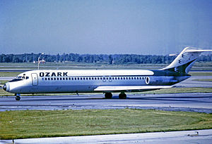 Ozark Air Lines - Ozark Douglas DC-9-31 at Chicago's O'Hare Airport in 1975