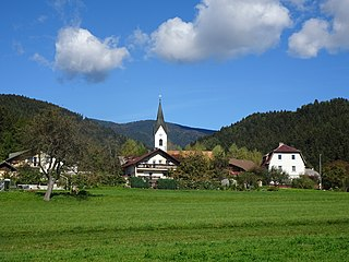 Dovže Village in Carinthia, Slovenia