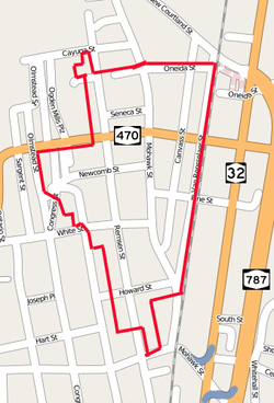 Downtown Cohoes Historic District map.png