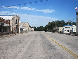 Menard, Texas - Downtown Menard on a nearly deserted summer Saturday evening