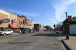 Downtown Pinckney, Main Street, facing east