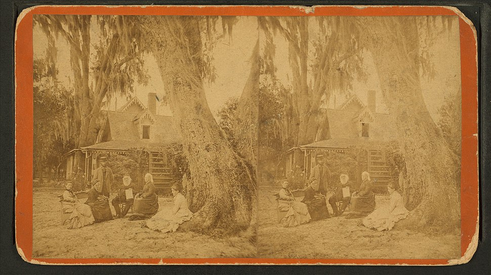 Dr. Stowe & Mrs. Harriet Beecher Stowe, from Robert N. Dennis collection of stereoscopic views
