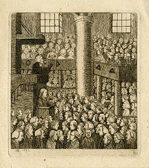 Scottish religion in the eighteenth century - Scottish minister and his congregation, c. 1750