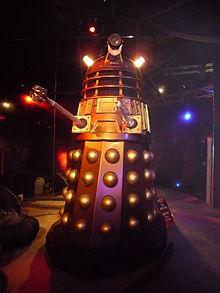 Uno dei Dalek, spietati invasori cibernetici nella serie tv britannica Doctor Who