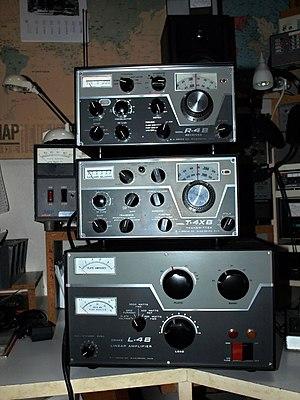 R. L. Drake Company - Drake R-4B receiver, T-4XB transmitter, and L-4B linear amplifier