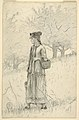 Drawing, Young Woman Walking through a Field, 1879 (CH 18186903).jpg