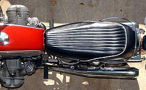 Motorcycle saddle - Image: Dual saddle