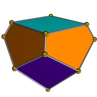 Gyroelongated square pyramid - Image: Dual gyroelongated square pyramid