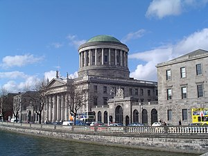 Politics of the Republic of Ireland - The Four Courts in Dublin