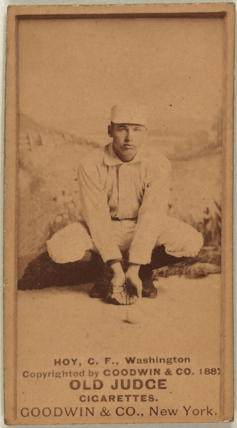 Dummy Hoy baseball card