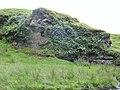 Dunton Cove, Scottish Covenanters 17th century artificial cave, Craufurdland Water, Ayrshire.jpg