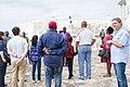 Dzifa Gomashie and Anthony Foxx delegation at Cape Coast Castle 2.jpg