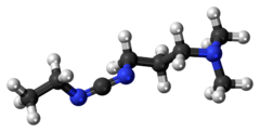 Ball-and-stick model of the EDC molecule