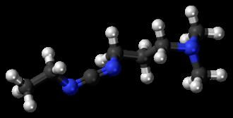 1-Ethyl-3-(3-dimethylaminopropyl)carbodiimide - Image: EDC molecule ball