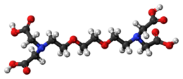 Ball-and-stick model of the EGTA molecule