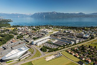 Logitech - Headquarter of Logitech International S.A., located in Lausanne (building on the right side of this photo)