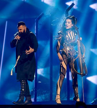 Bosnia and Herzegovina in the Eurovision Song Contest 2016 - Jala and Ana Rucner during a rehearsal before the first semi-final