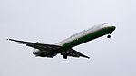EVA Air MD-90-30 B-17926 on Final Approach at Taipei Songshan Airport 20150221a.jpg