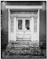 EXTERIOR, DETAIL OF NORTH FRONT DOOR - John McGee House, State Highway 25 vicinity, Dixon Springs, Smith County, TN HABS TENN,85-DISP,1-6.tif