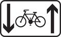 E 16c - Jazda cyklistov v oboch smeroch povolená (vzor).png