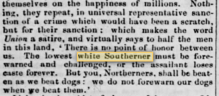 "Early use of the phrase ""White Southerner,"" Boston Liberator, July 18, 1856"