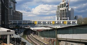 East Croydon station - East Croydon station footbridge, installed 2013