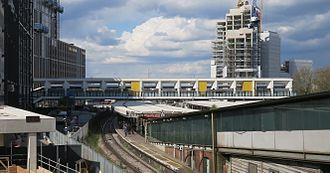 East Croydon station - East Croydon station footbridge, installed 2013