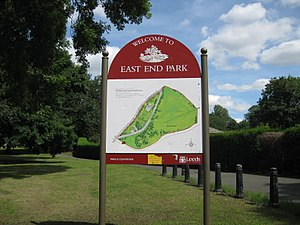 East End Park, Leeds - Image: East End Park Welcome 13 August 2017