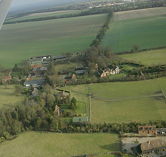 West Ginge - Aerial photo of East Ginge