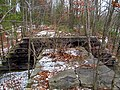 East end of Central Mass bridge over North Brook, January 2016.JPG