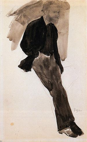 "Edgar Degas's painting ""Edouard Manet Sta..."