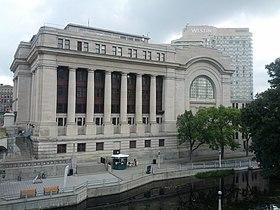 The Senate of Canada sits in the Senate of Canada Building in Ottawa