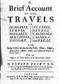 Edward Brown MD - 1673 - A brief account of some travels title page.jpg