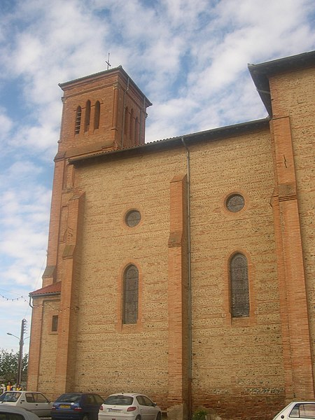 Church of Beaumont-sur-Lèze, Haute-Garonne, France. Southern wall.
