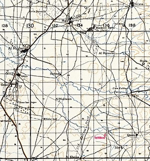Ekron - 1939 map showing surrounding region