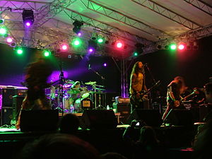 Hungarian metal - Ektomorf performing at Rock the Lake Festival in 2007