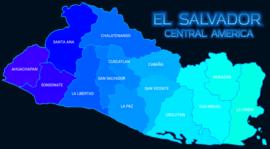División política de El Salvador.