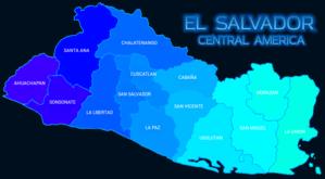 El Salvador Departments Map Mapa Departamentos El Salvador.png