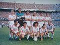 El aguerrido e intratable equipo de 1992, antes de ser protagonista de la victoria sobre el equipo de la ribera por 3 tantos contra 2 en la Bombonera.jpg