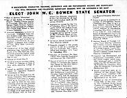 Elect John W.E. Bowen State Senator - 1966 - 2 of 2