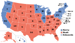 Electoral map, 2004 election