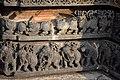 Elephants and Lions in a row Hoysaleswara Temple Halebid.jpg