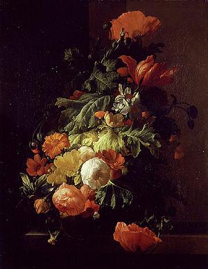 Elias van den Broeck - Flowers in a vase, ca. 1690