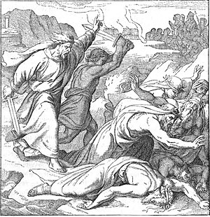 Baal - Elijah slaying the prophets of Baal