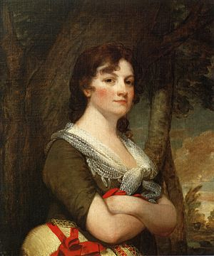 Elizabeth Parke Custis Law - Portrait of Elizabeth Parke Custis Law by Gilbert Stuart