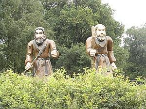 Ellert en Brammert (museum) - Statues of the mythical giants Ellert and Brammert at the museum
